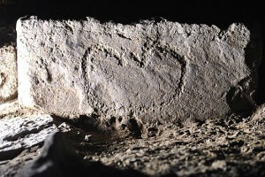 Earliest Orkney example of a  decorated stone. Photo: Christopher Gee