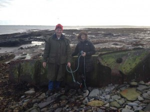 David, Margaret and Rory in Sanday last week.